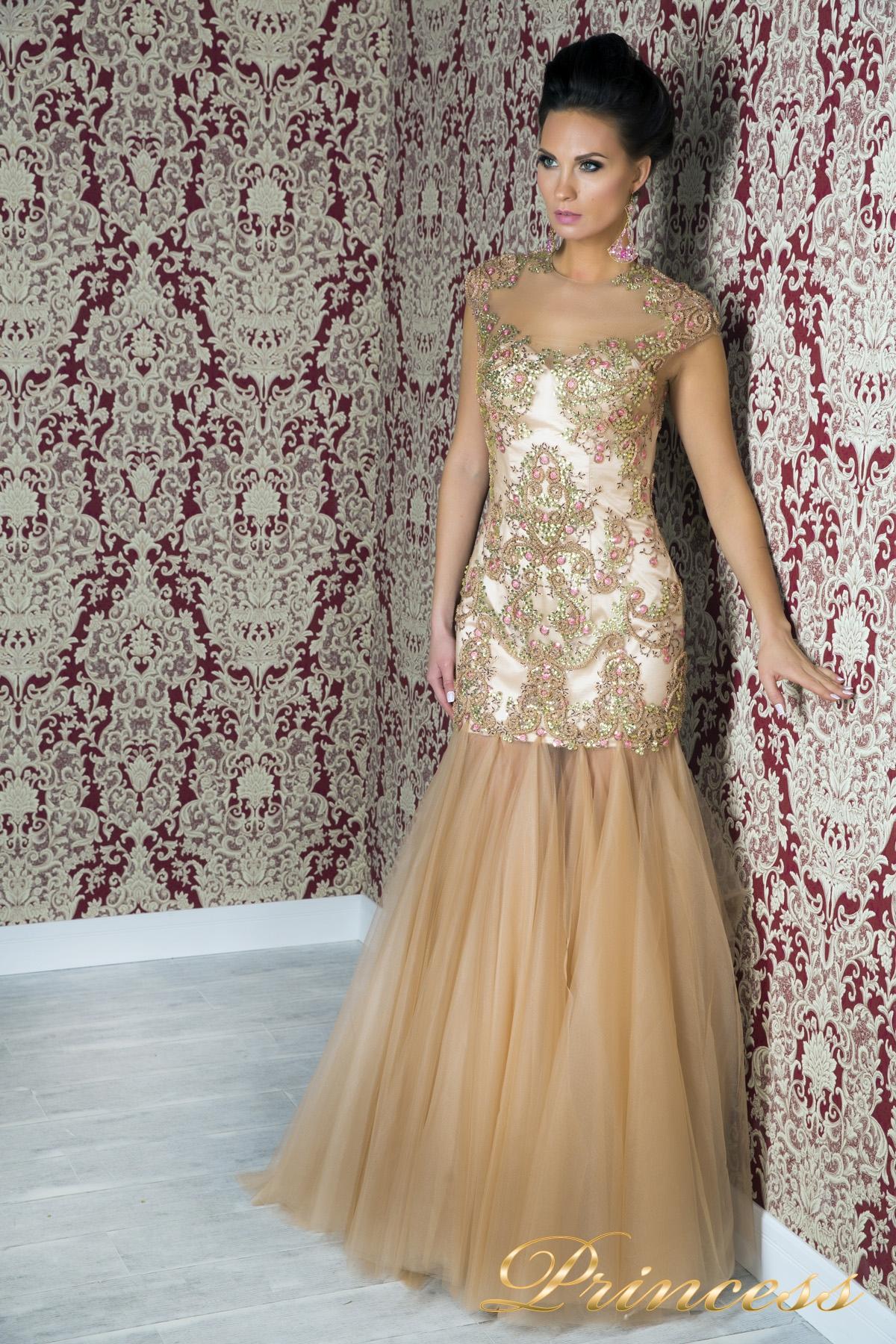 70c70becc5cc5a3 Купить вечернее платье 1049 розового цвета по цене 25000 руб. в ...