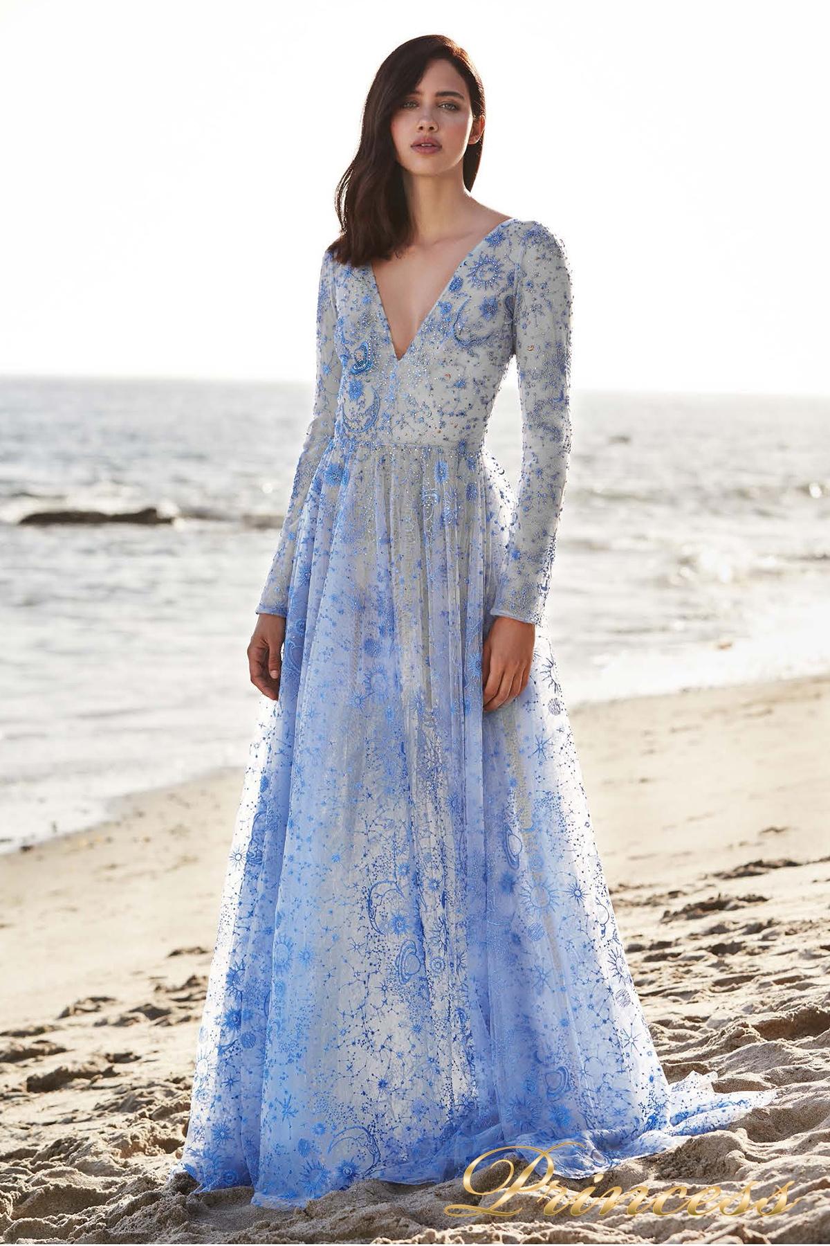e53931a9b7c Купить вечернее платье tadashi shoji bdi18484lb цветного цвета по ...