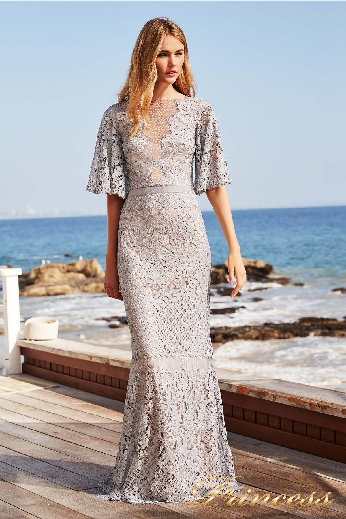db840336ecc Купить вечернее платье tadashi shoji aya18255l серого цвета по цене ...