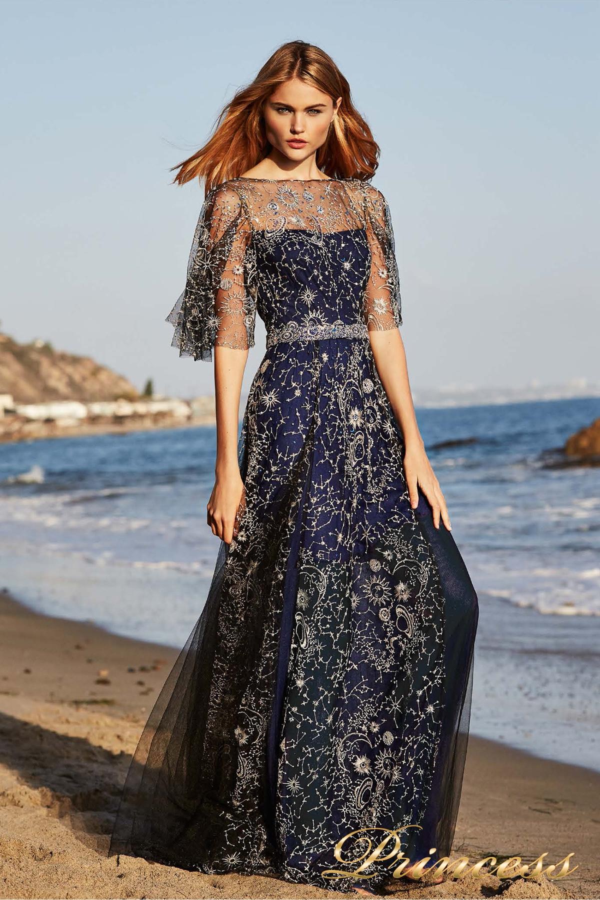 Купить вечернее платье tadashi shoji dbi18481lb синего цвета по цене ... 3078ba8b39d