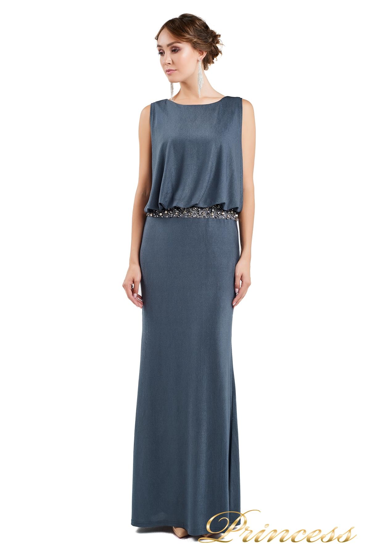 fb040459f70 Вечернее платье 1144 dark grey стального цвета. Exclusive. Вечернее платье  ...