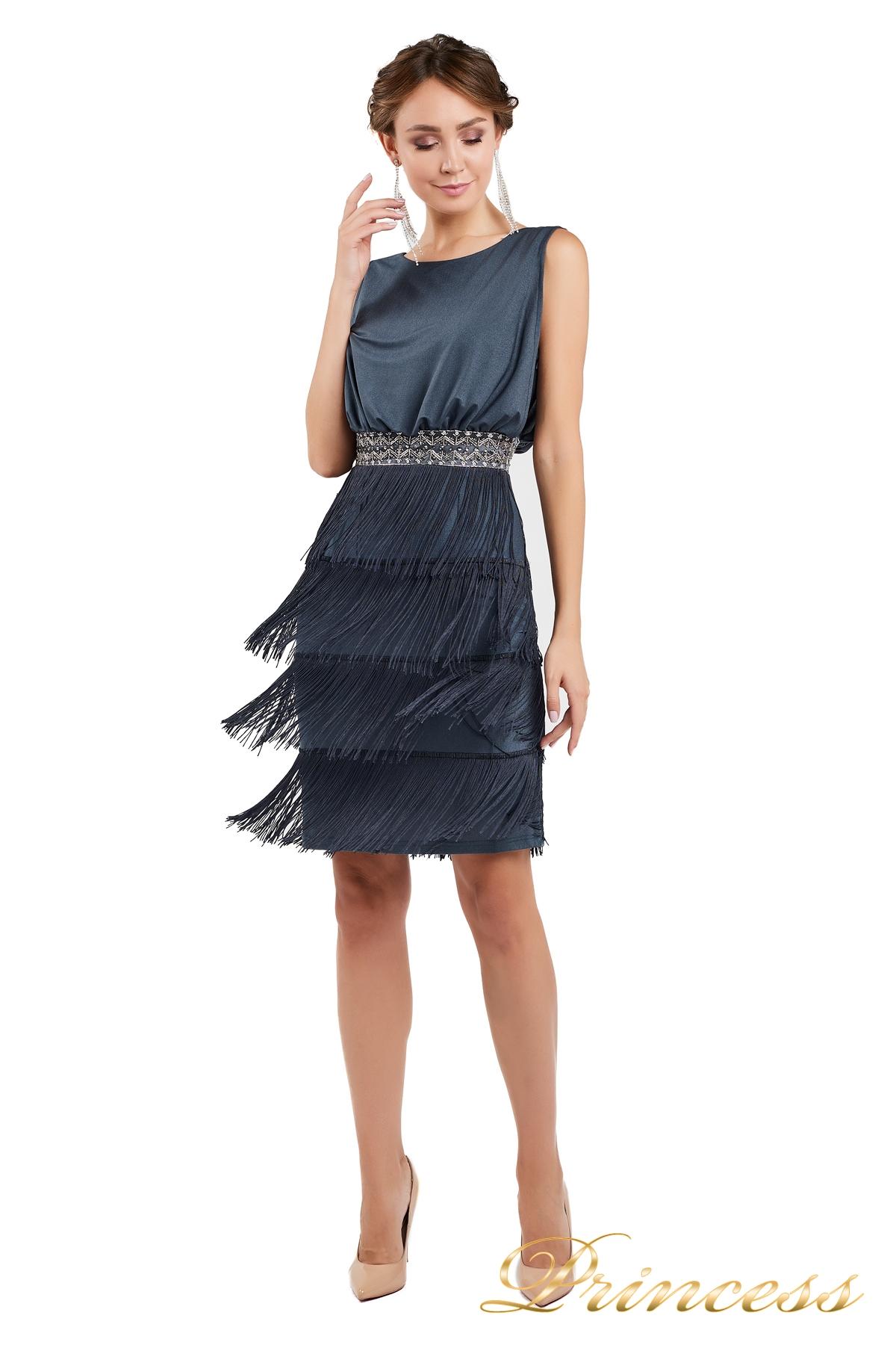 327684cb44d Купить коктейльное платье 1147 dark gray стального цвета по цене ...