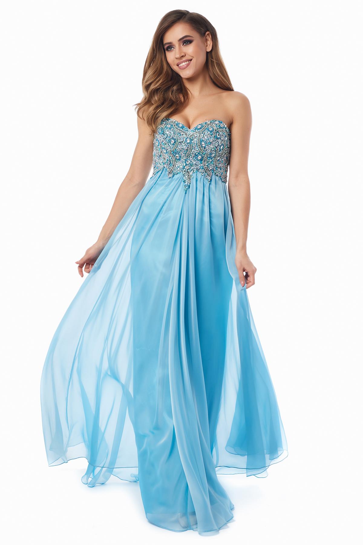 c9ead9aa04f Купить вечернее платье 12013b голубого цвета по цене 17500 руб. в ...