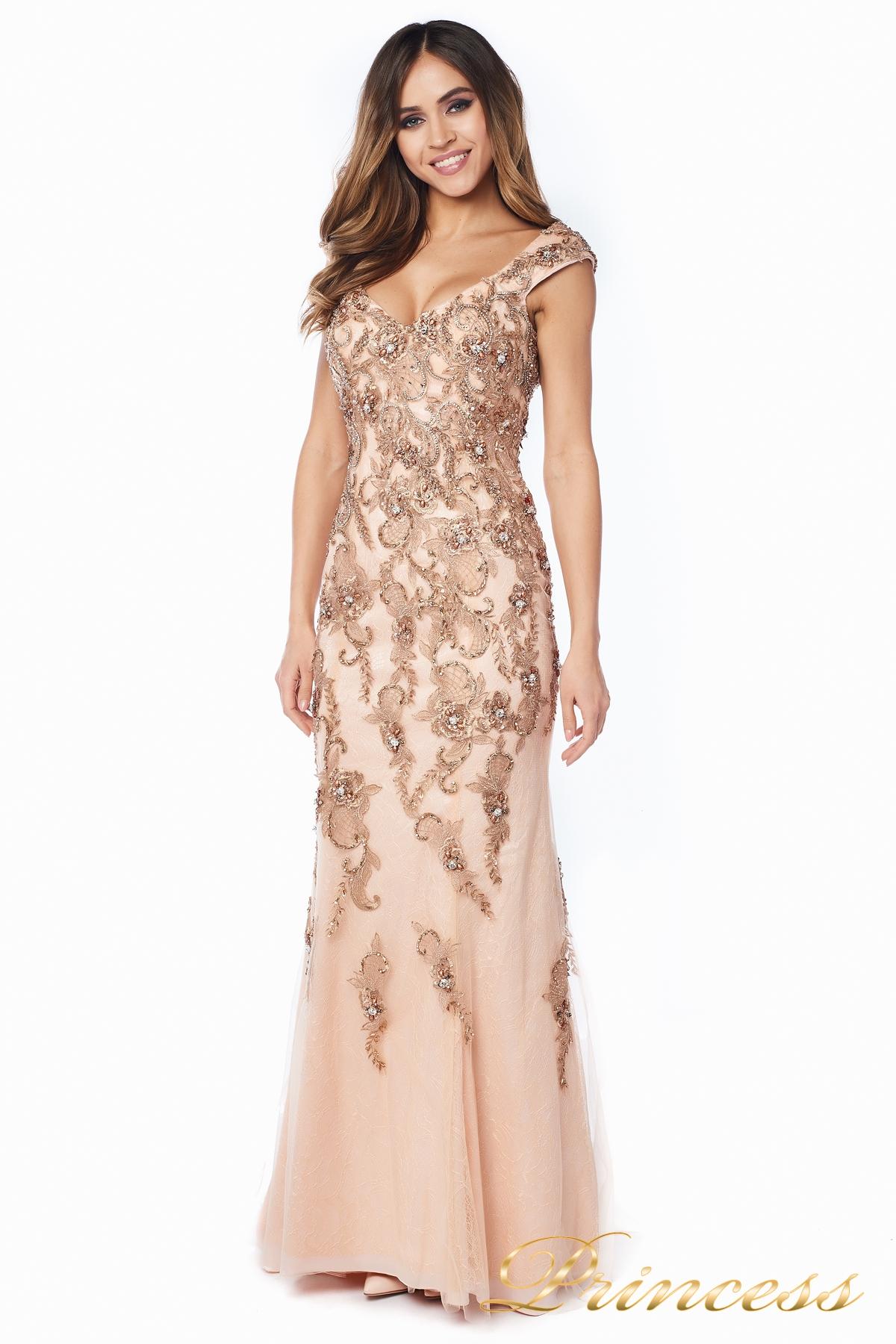 da596494afa7b59 Купить вечернее платье 12036 розового цвета по цене 42000 руб. в ...