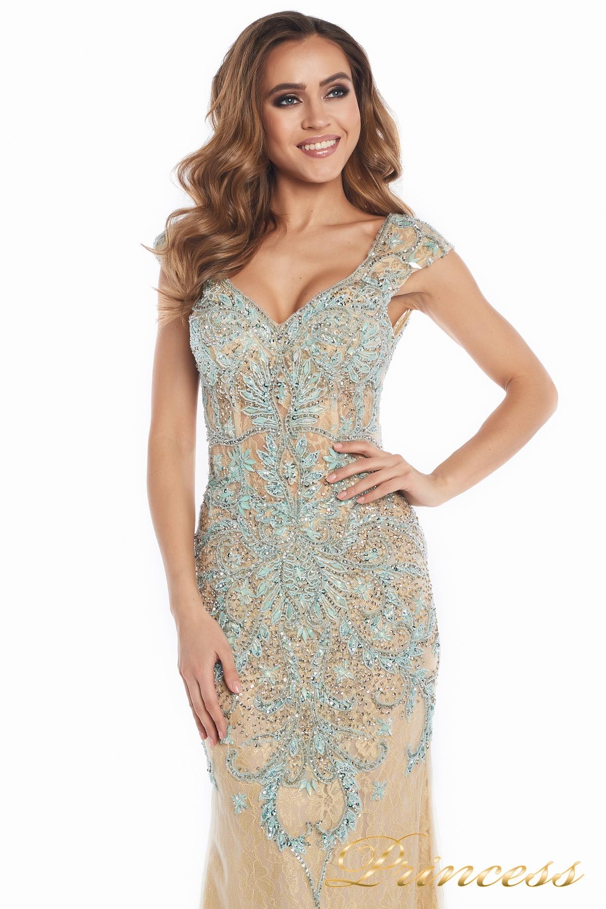 353f7763a42 Купить вечернее платье 12053 золотого цвета по цене 45000 руб. в ...