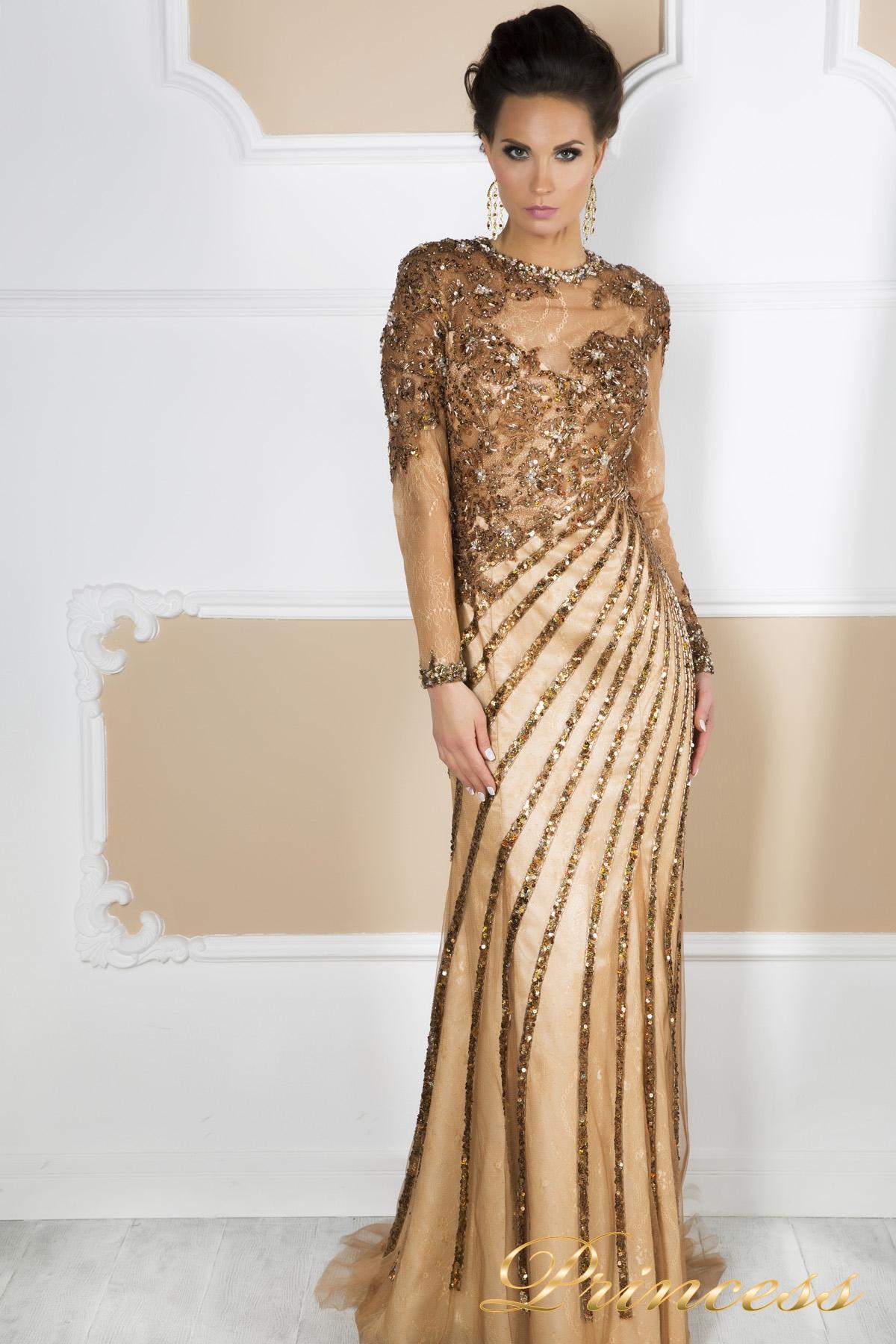 64555e8f1e4e6d0 Купить вечернее платье 12081 пастельного цвета по цене 45000 руб. в ...