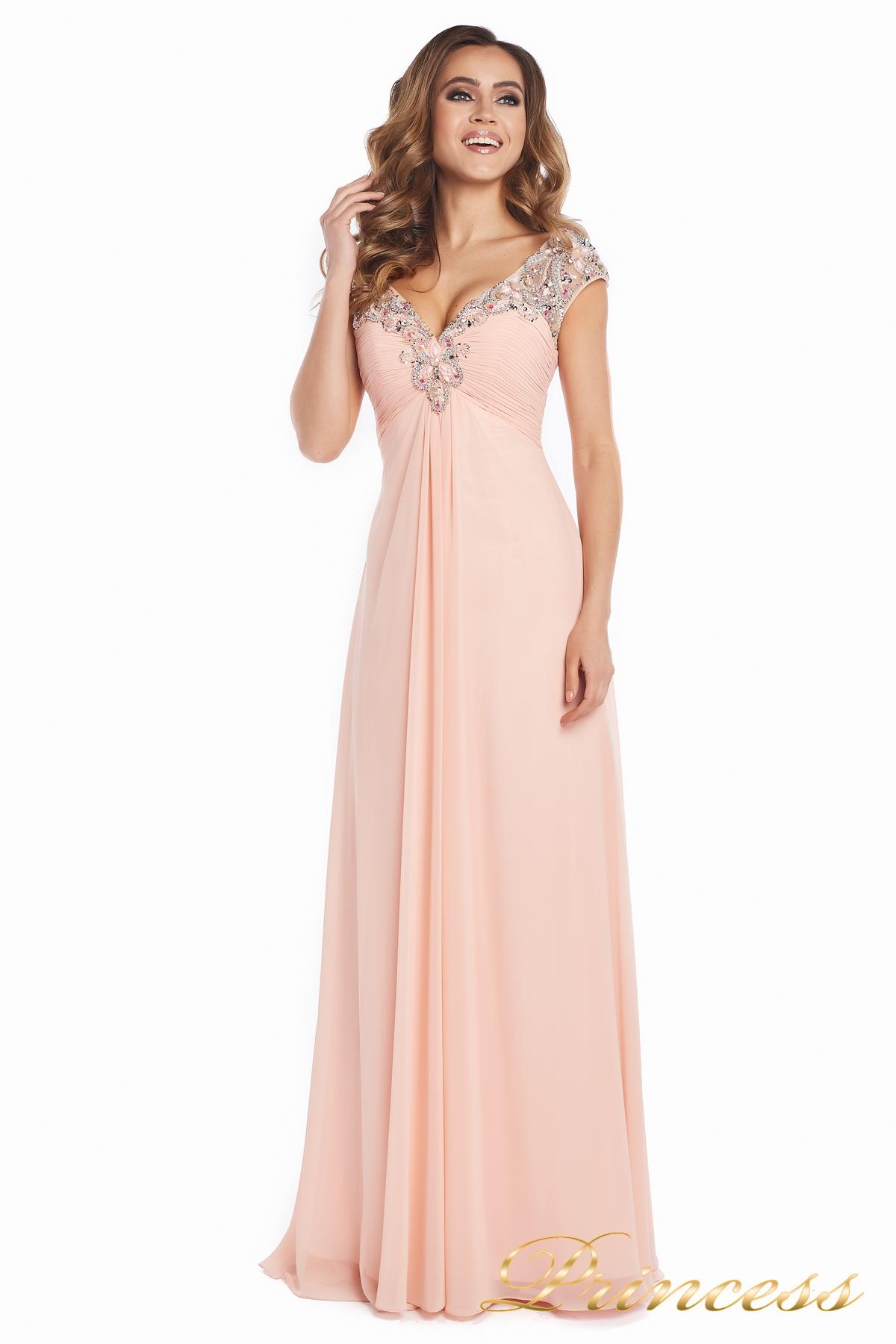 461bff248bf Купить вечернее платье №131587p розового цвета по цене 15000 руб. в ...