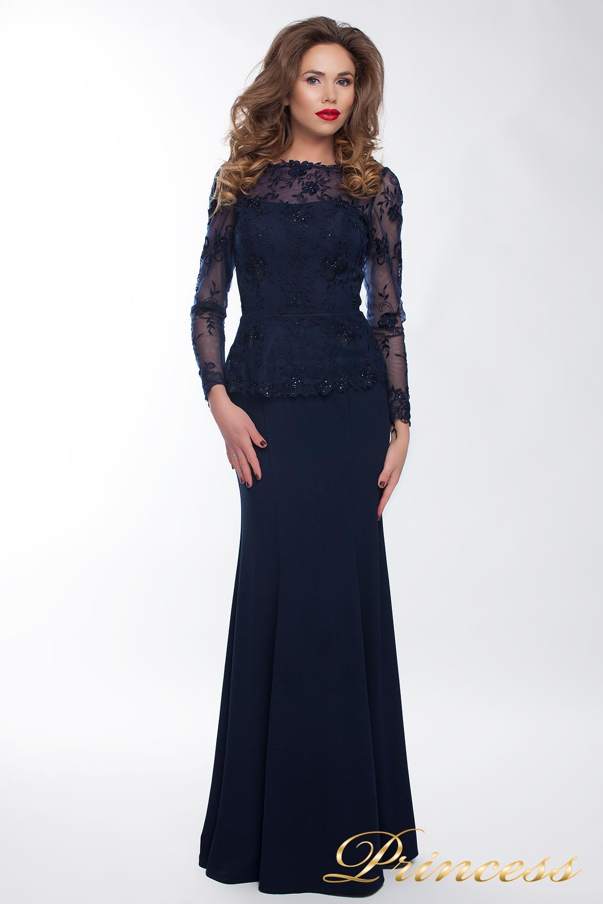 Купить вечернее платье 13526 navy smal синего цвета по цене 32500 ... 037f7ade3c7