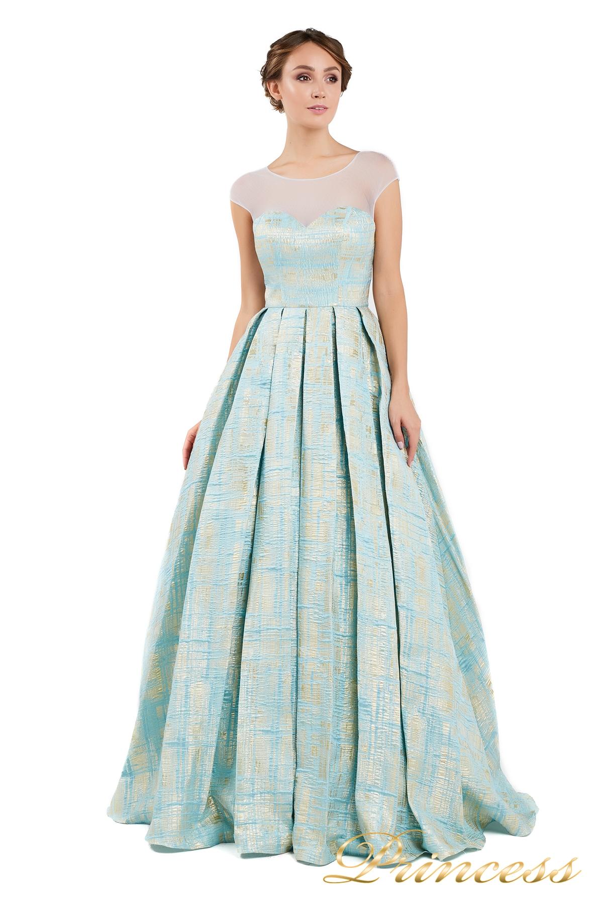 4b76729d171 Купить вечернее платье 13897 мятного цвета по цене 15000 руб. в ...