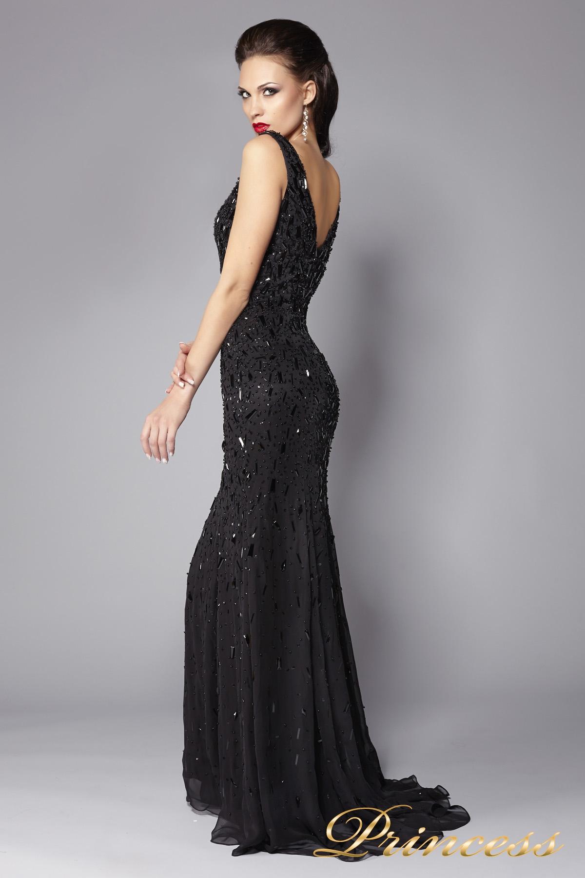 Черное коктейльное платье в пайетках
