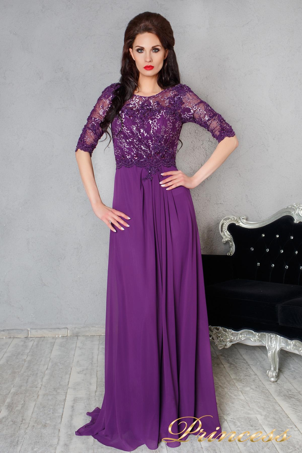 bf4bd4fcd96 Купить вечернее платье 140956 фиолетового цвета по цене 15000 руб. в ...