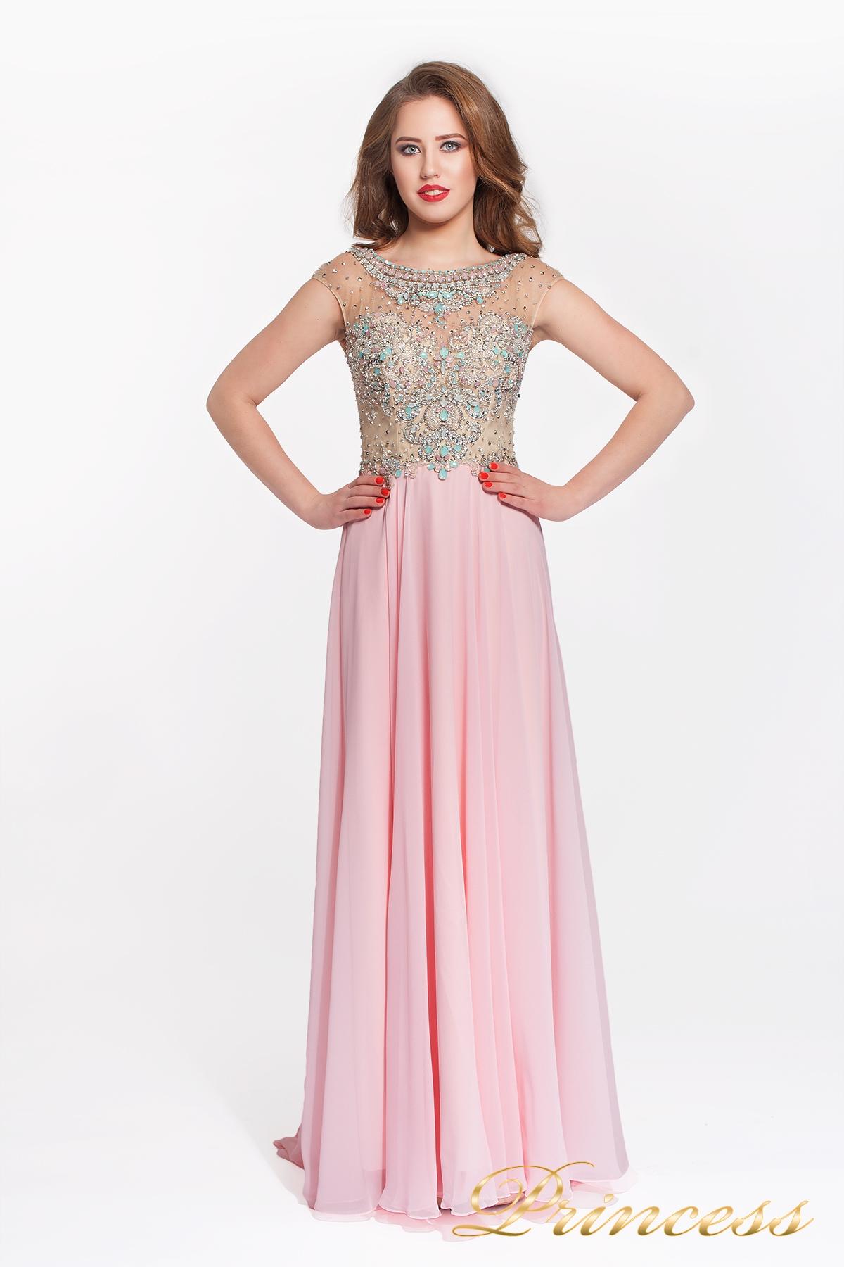 446ab69efd5 Купить вечернее платье 150009 pink розового цвета по цене 24500 руб ...