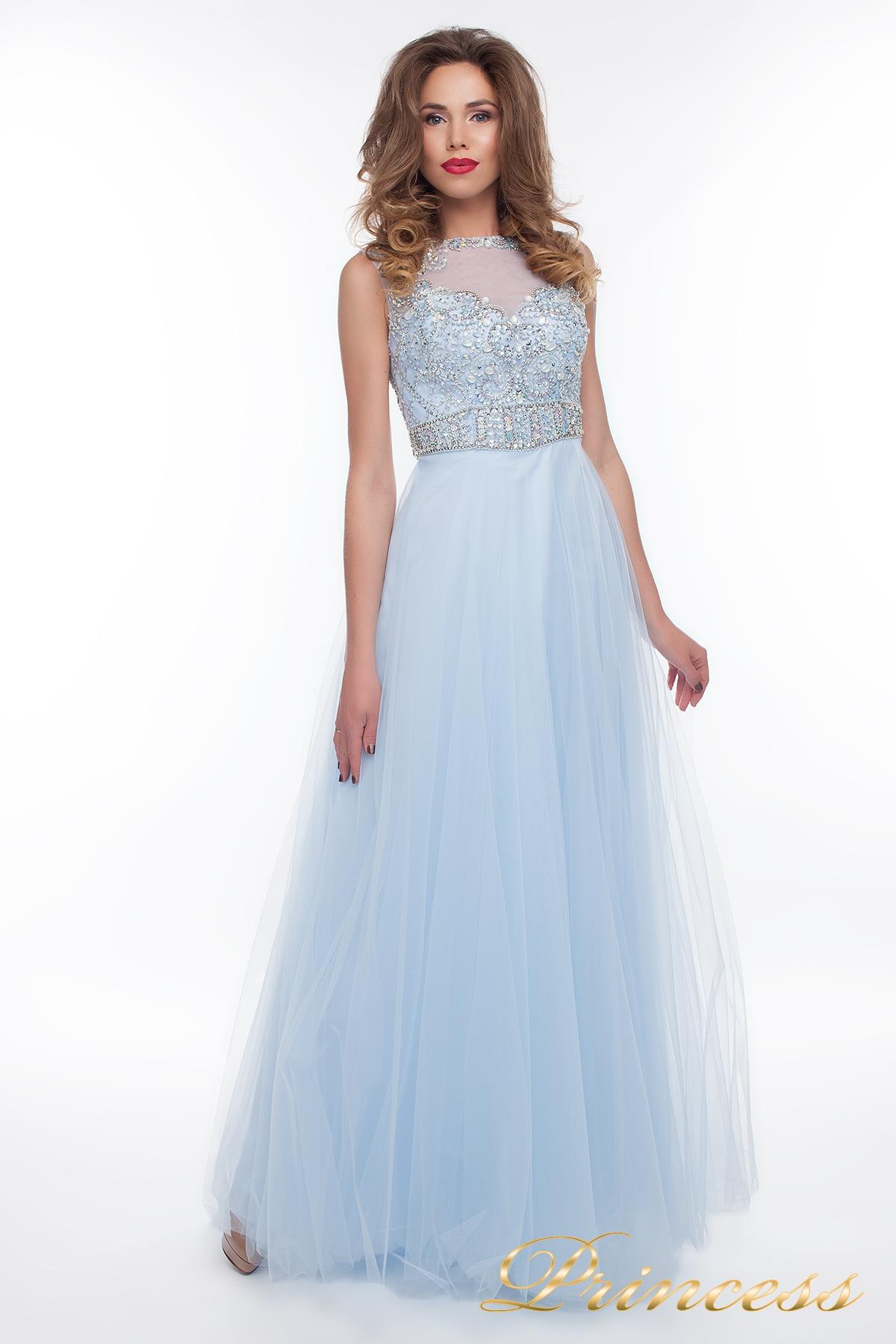 caab302dfc7 Купить вечернее платье 150190 blue голубого цвета по цене 29500 руб ...