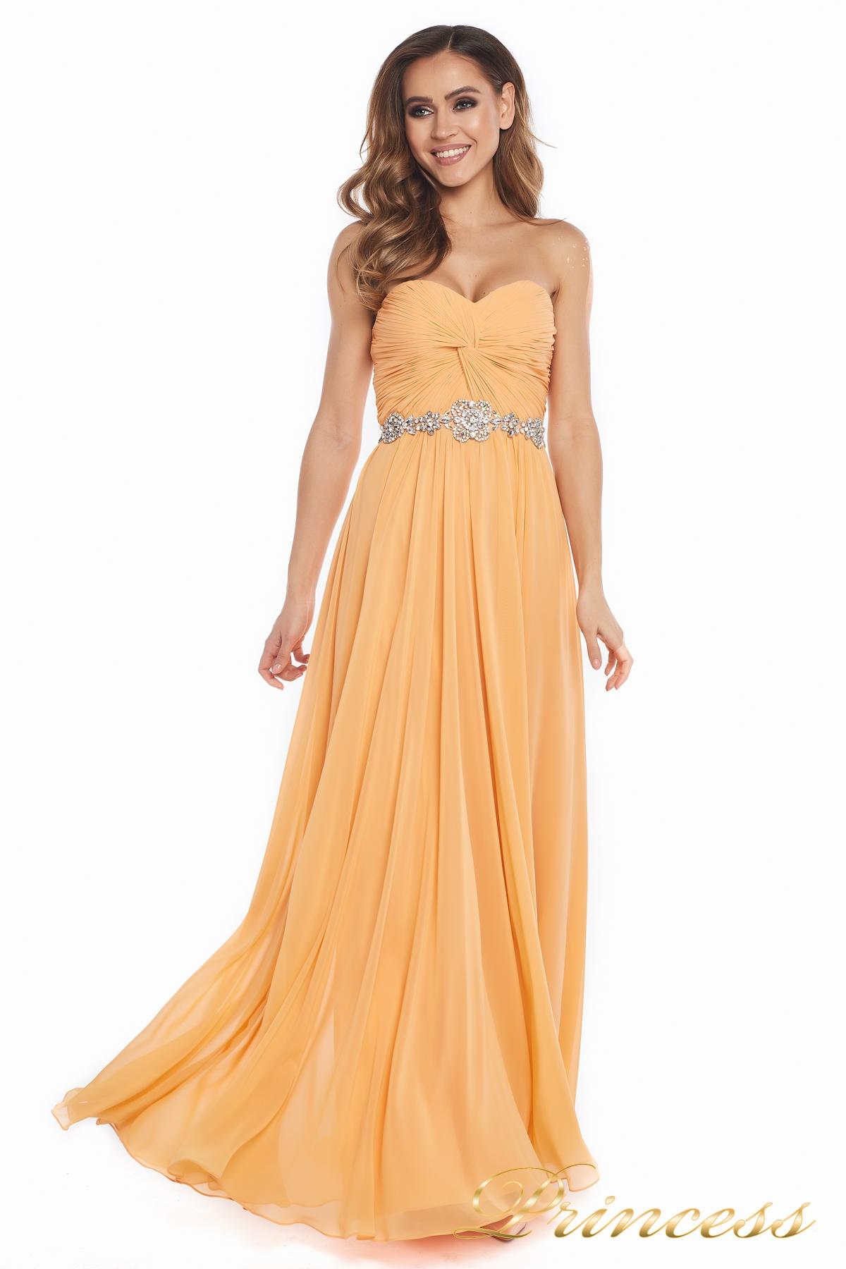 1e69ba4b11a Купить вечернее платье 159764p персикового цвета по цене 20500 руб ...