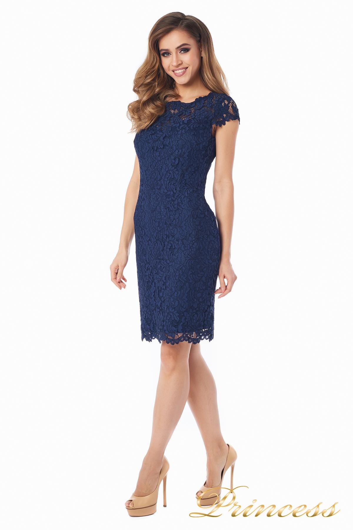 11e6244f8f97b Купить коктейльное платье 1745 navy синего цвета по цене 17500 руб ...