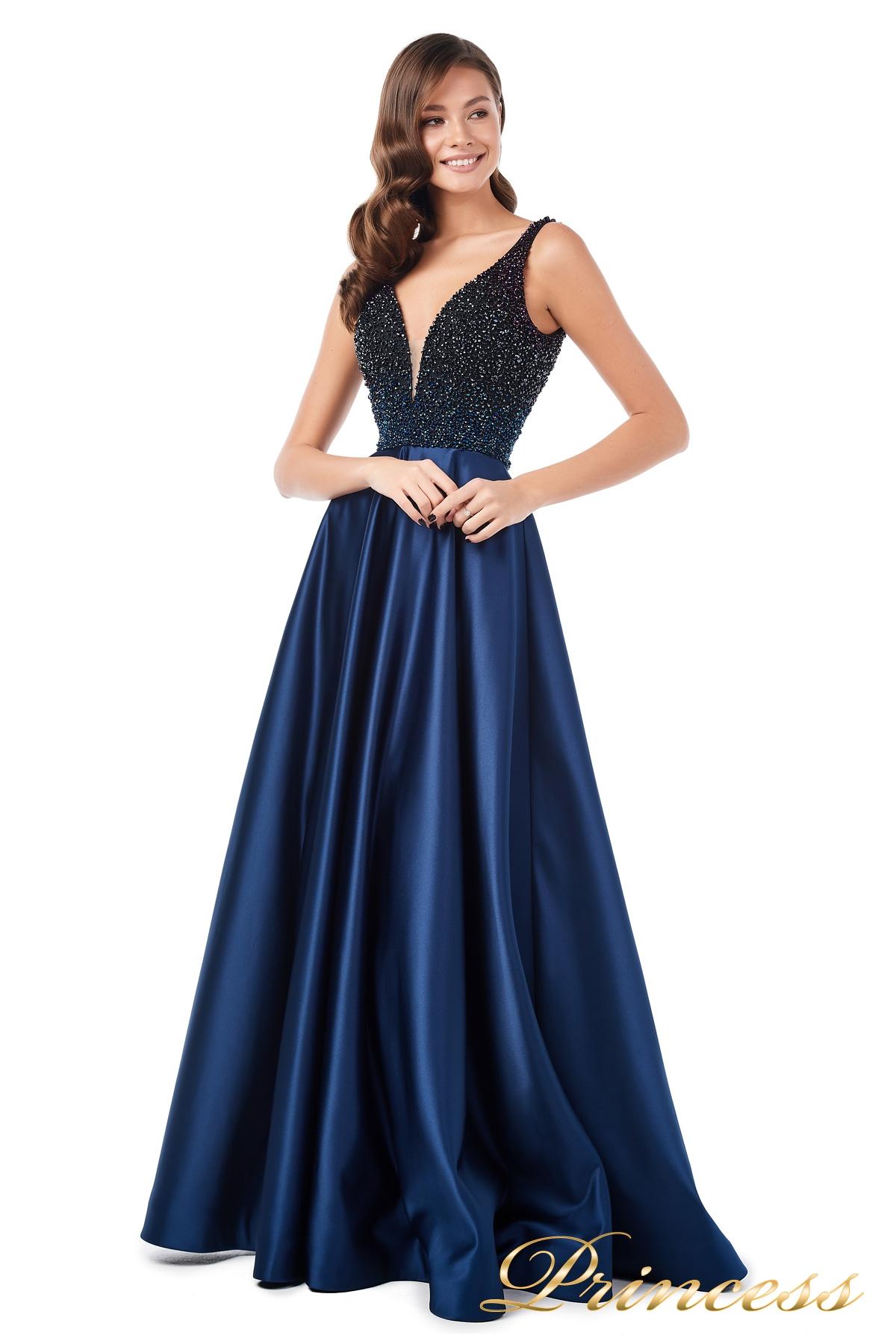 d98e92ddb4479 Купить вечернее платье 18107 navy синего цвета по цене 35500 руб. в ...