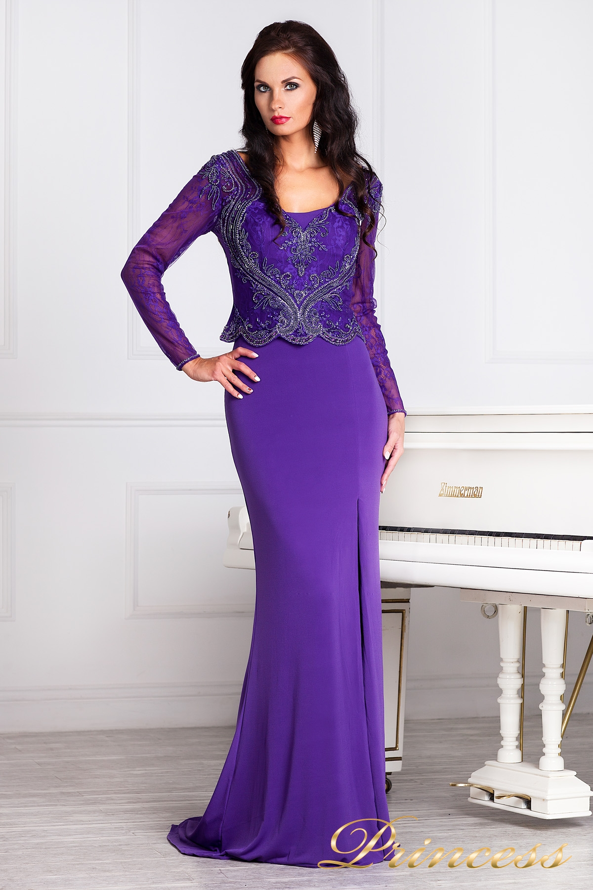 db83cca0b59 Купить вечернее платье 3200n фиолетового цвета по цене 29500 руб. в ...