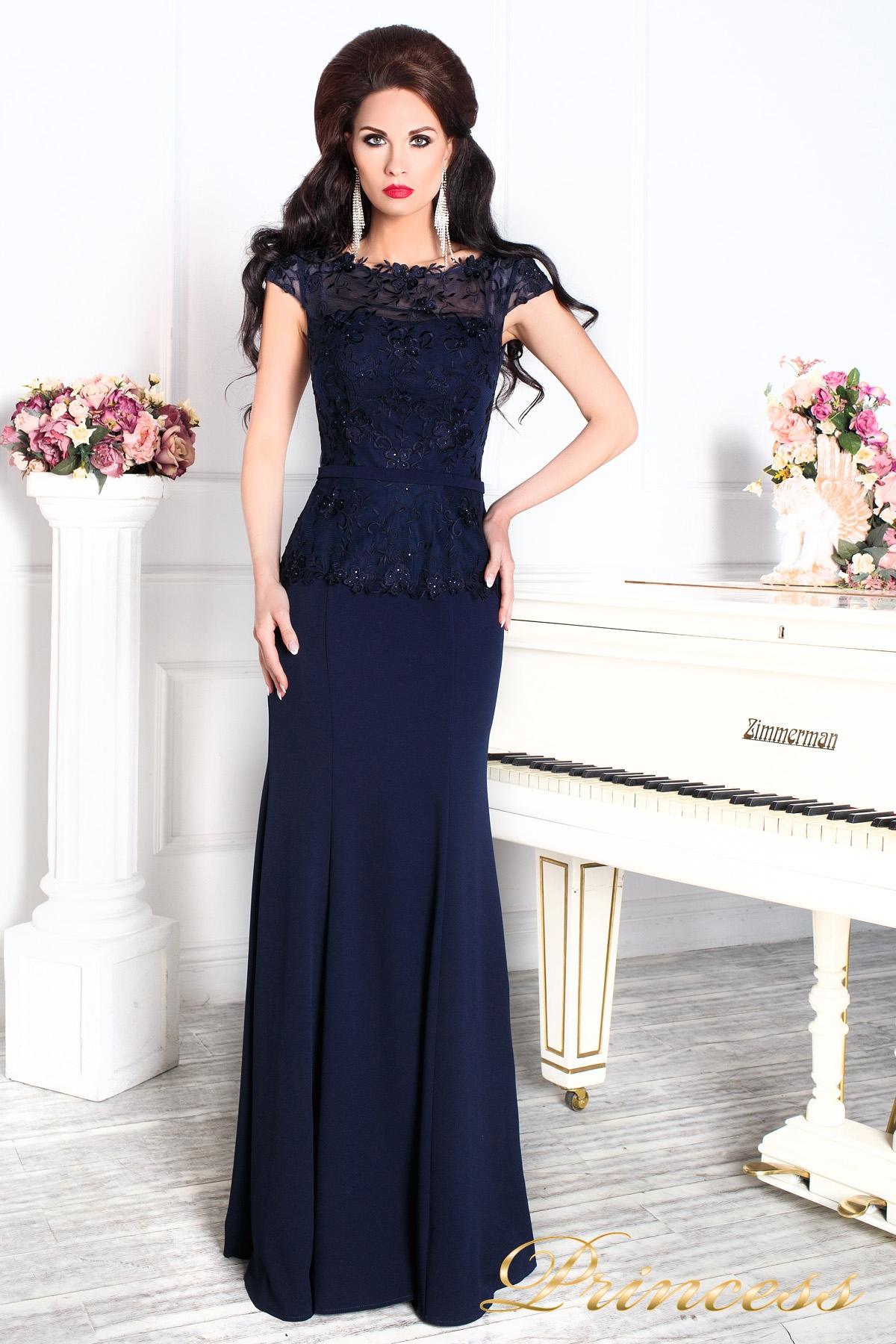 803b4274a8f Купить вечернее платье 12084 темно синего цвета navy синего цвета по ...