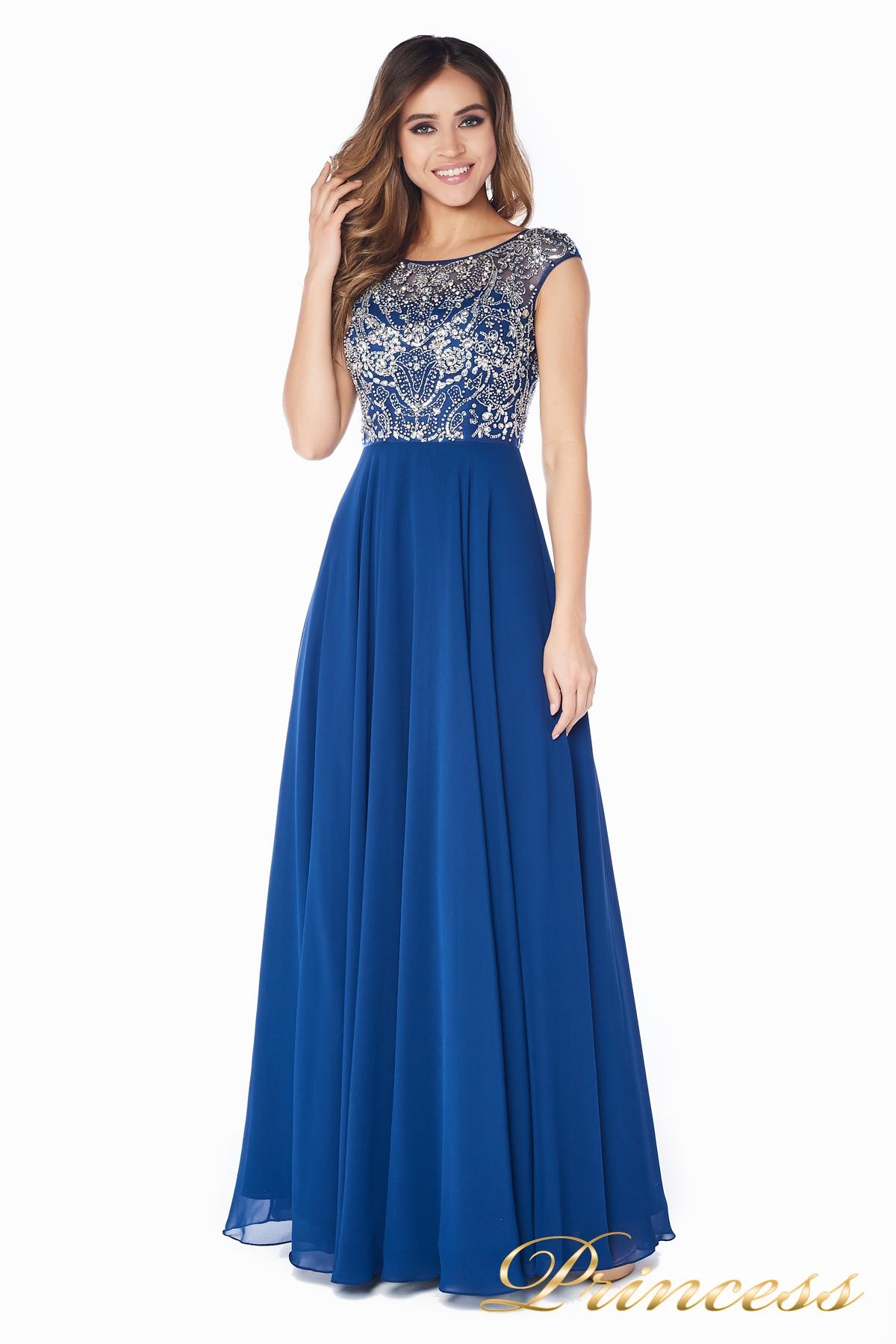 acc4c7d3712 Купить вечернее платье 80824an синего цвета по цене 27500 руб. в ...