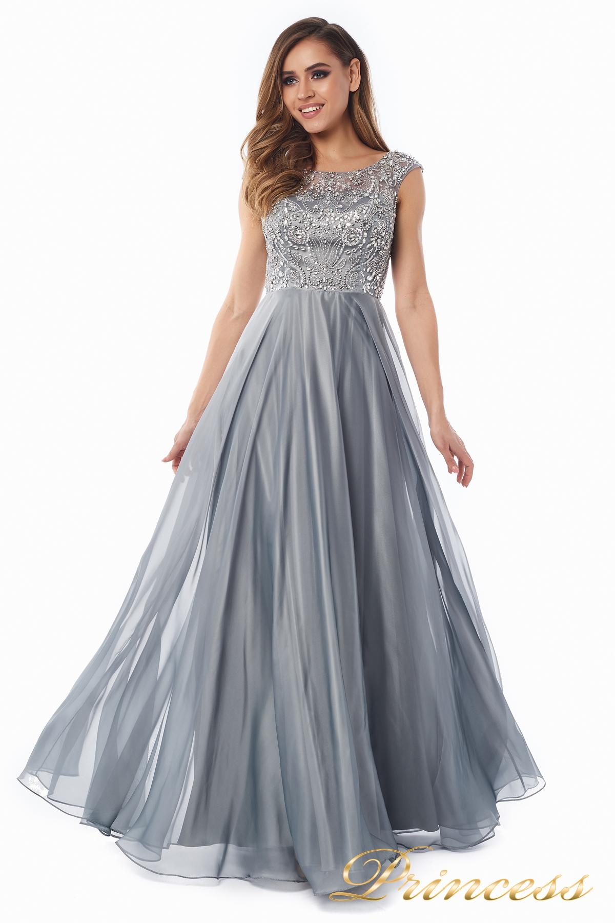 fa09837a0b8 Вечернее платье 80824-171 gray стального цвета. Exclusive. Вечернее платье  ...