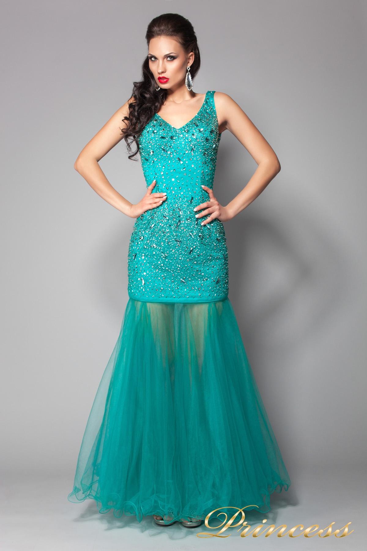 203ee639a68 Купить вечернее платье 96139lg зеленого цвета по цене 15000 руб. в ...