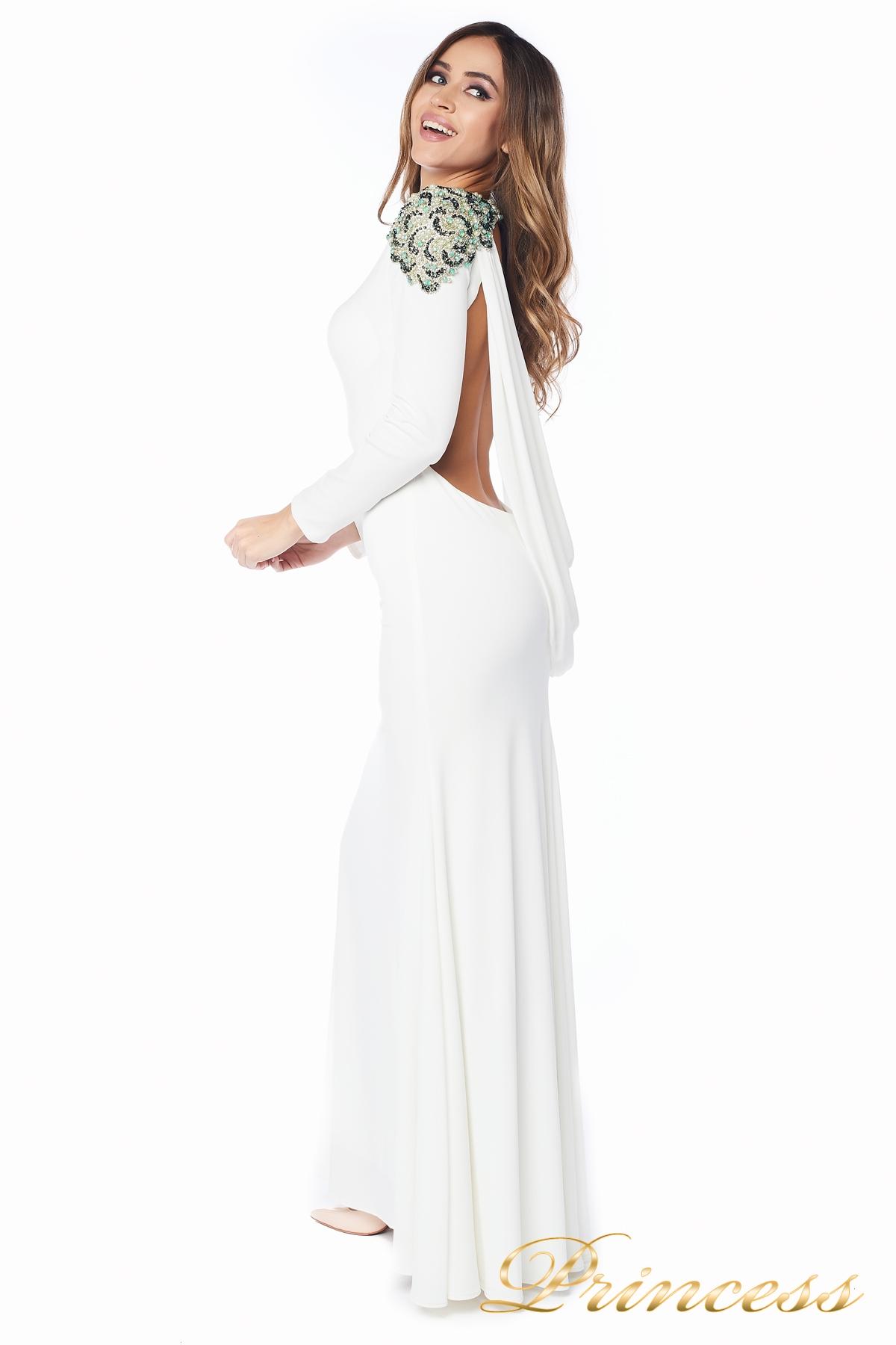 acf79311441 Купить вечернее платье 98498 white пастельного цвета по цене 32000 ...