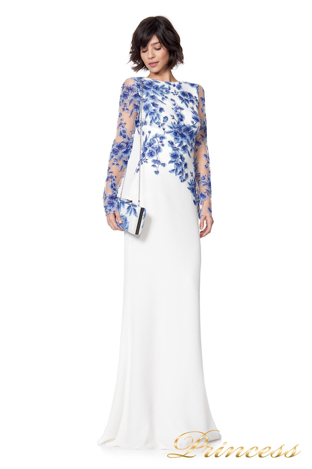 070be2d0443 Купить вечернее платье ath16206lxy white цветочного цвета по цене ...