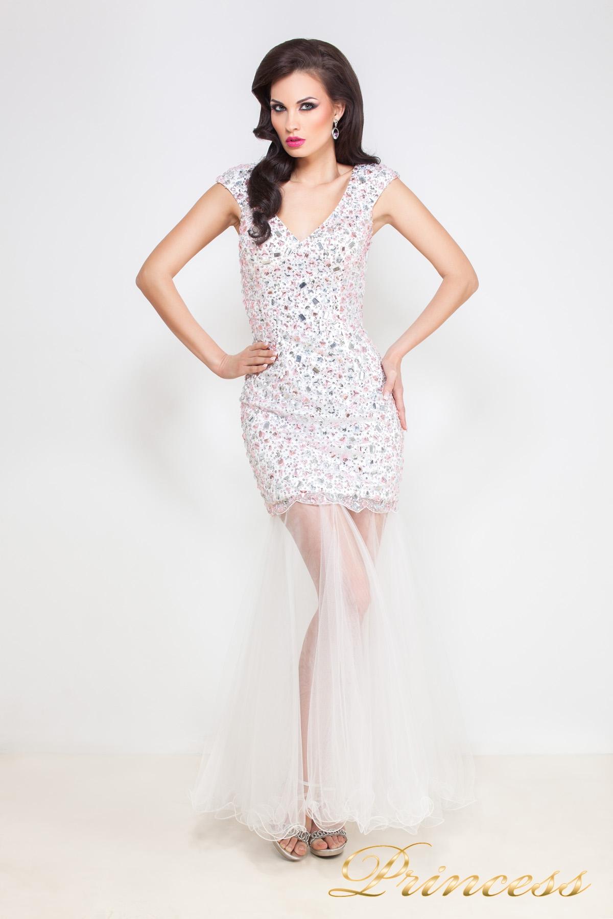 87463ff2d60bca4 Купить коктейльное платье 26l розового цвета по цене 22500 руб. в ...