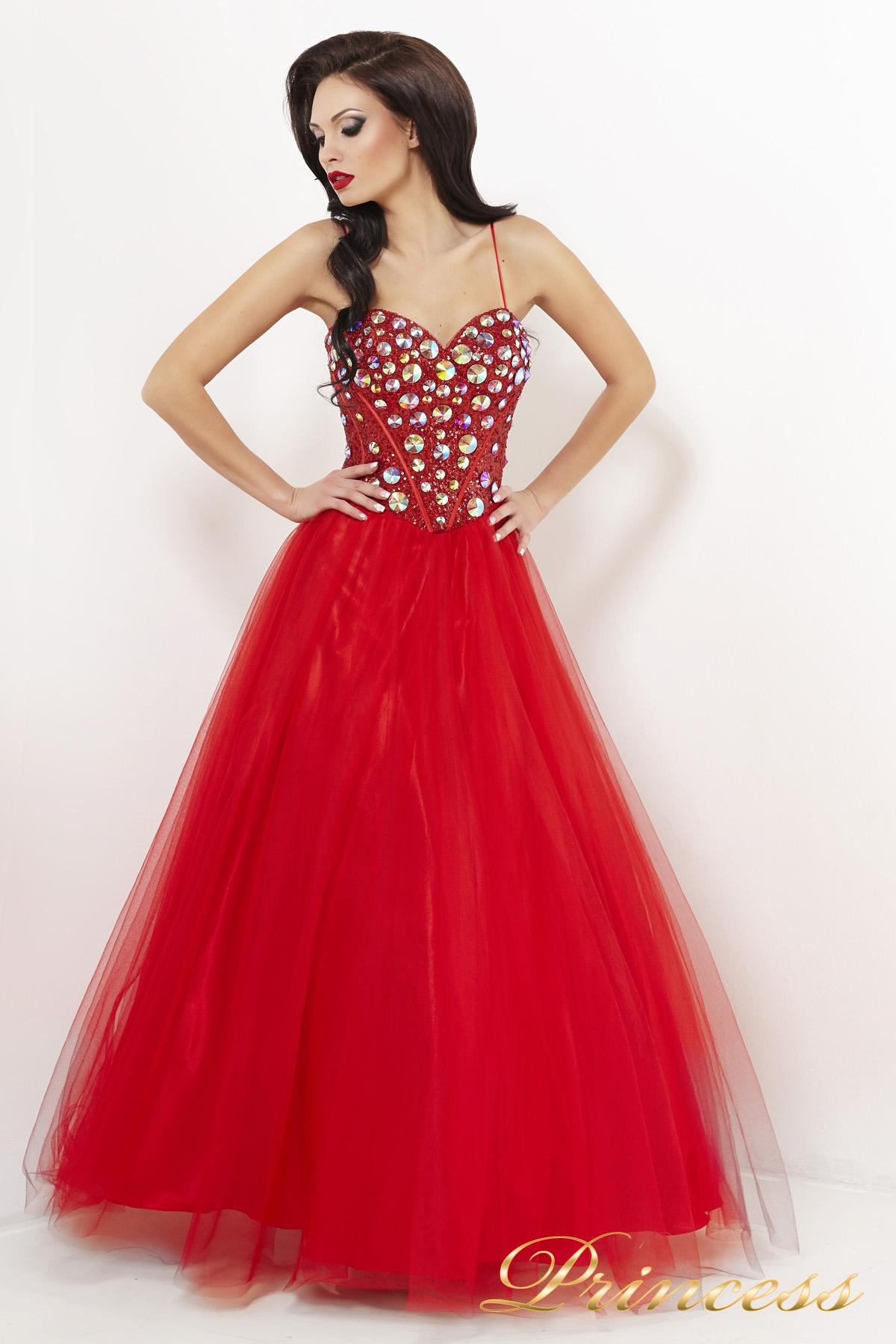 9dec922818c Купить вечернее платье пышное 23 красного цвета по цене 0 руб. в ...