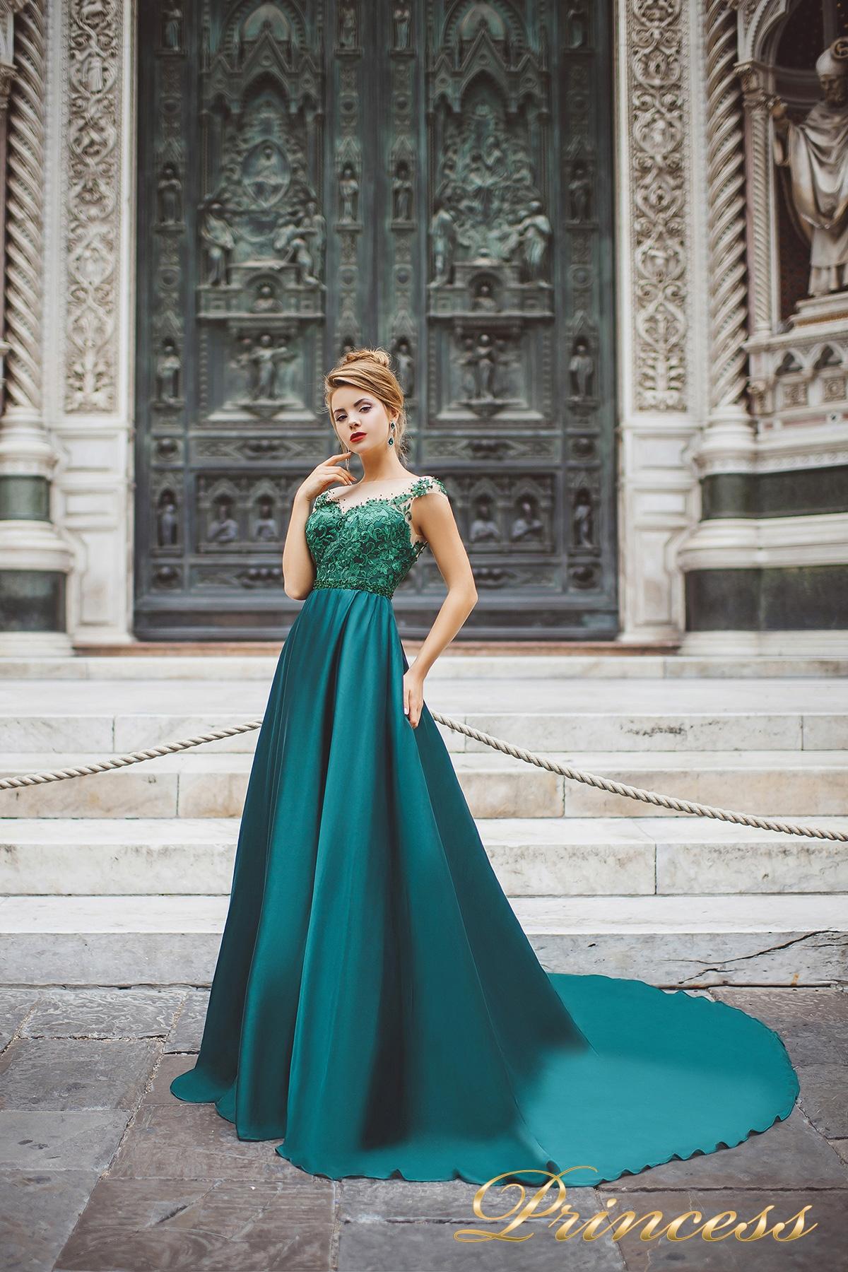 e99d17c4cd6 Купить вечернее платье 8031 зеленого цвета по цене 23500 руб. в ...